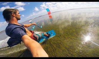 Kiteboarding On Insane Flat