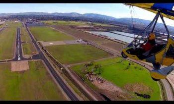 Ultralight landing in turbulence