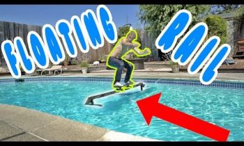 SKATING A FLOATING RAIL OVER MY POOL