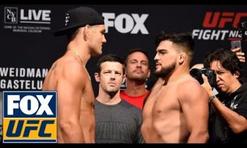 Chris Weidman vs. Kelvin Gastelum | Weigh-In | UFC Fight Night