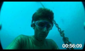 Guillaume Nery Dives with GoPro camera