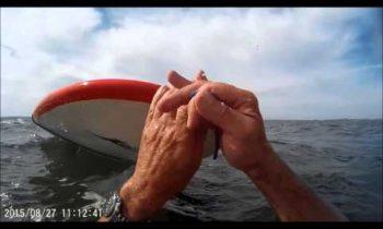 Broken windsurfing boom-self rescue