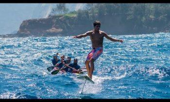 Kai Lenny crosses the Hawaiian Islands on hydrofoils