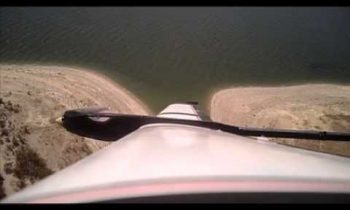 Freds Angry Bird glider with video from wing over Lake San Antonio
