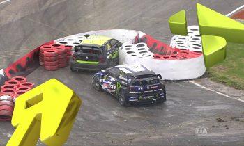 Kristoffersson Big Crash in Semi-Final 1   Cooper Tires World RX of Great Britain