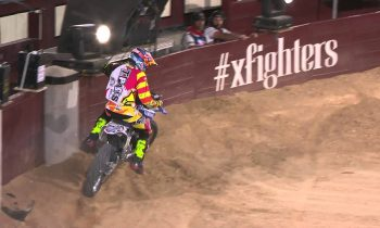 Historic Bike Flip in FMX competition – Red Bull X-Fighters Madrid 2014