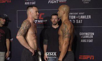 UFC on ESPN 5: Colby Covington vs. Robbie Lawler Staredown – MMA Fighting