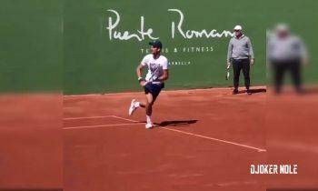 Novak Djokovic Practice with Marian Vajda – Marbella 2018 (HD)