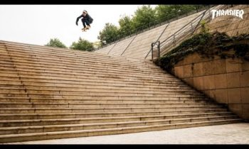 Aaron Jaws Homoki lands the Lyon 25 Stair Gap