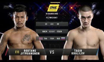 Rodtang Jitmuangnon vs. Tagir Khalilov: ONE Fists of Fury (FULL MATCH)